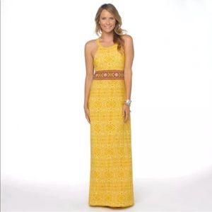 Prana M Skye Marigold Maxi Dress Yellow Organic